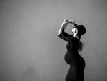 Auch in der Schwangerschaft modisch gestylt