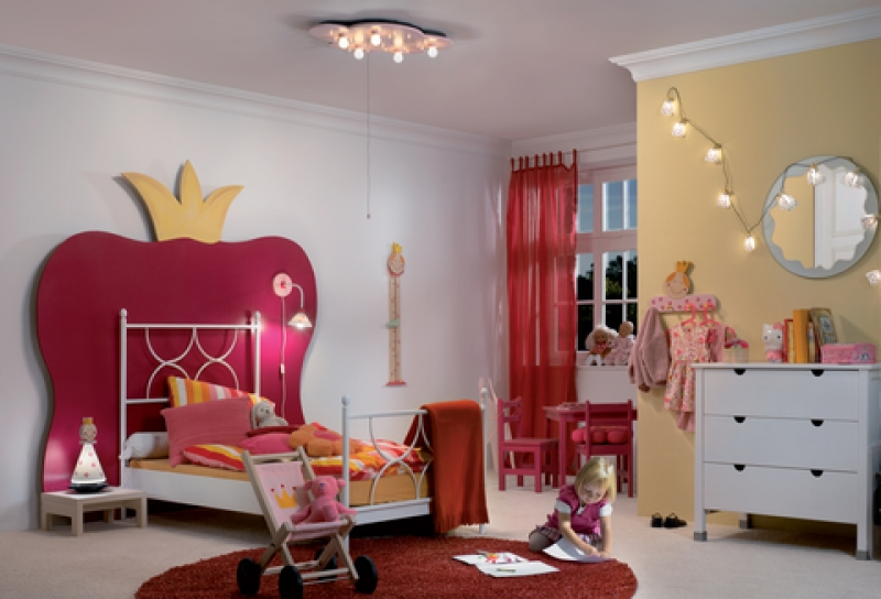 ideen fuer die beleuchtung im kinderzimmer. Black Bedroom Furniture Sets. Home Design Ideas