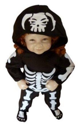 Das gruselige Skelett-Kostüm für Kinder kaufen