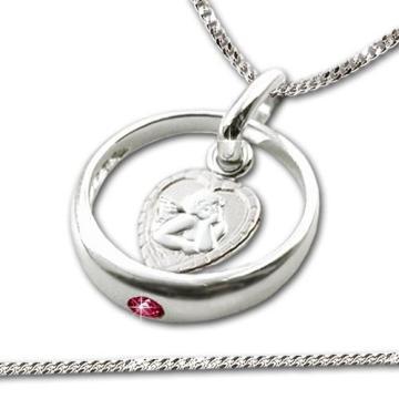 Die wunderschöne Taufkette mit Ring und Anhänger aus Silber bestellen