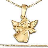 Die vergoldete Taufkette mit Goldener Anhänger Kinderengel bestellen