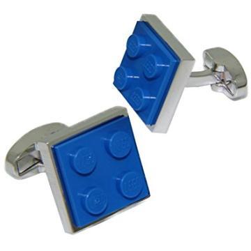 Die blauen Lego-Manschettenknöpfe von Brick & Cuffs bestellen