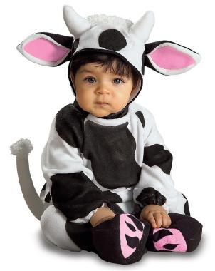 Das niedliche Kuh-Overall Fasching für das Baby bestellen