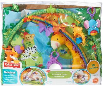 Baby-Erlebnis-Krabbeldecke Rainforest von Mattel bestellen