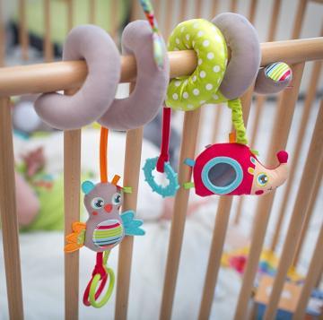 Die Activity-Baby-Spiel-Spirale Eule von Badabulle bestellen