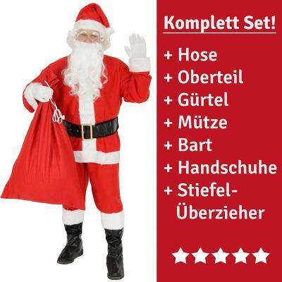 Das komplette Weihnachtsmann-Kostüm bestellen