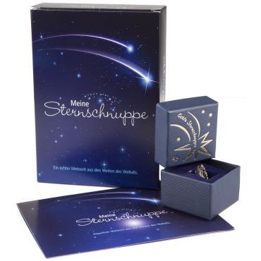 Eine Sternschnuppe als Geschenkset mit Zertifikat bestellen