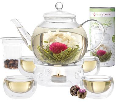 Das Blütentee-Set mit Teekanne und Gläsern bestellen
