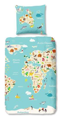 Die Bettwäsche im Landkarten-Design von Aminata bestellen