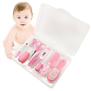 Das hochwertige 9-teilige Babypflege-Set in Rosa bestellen