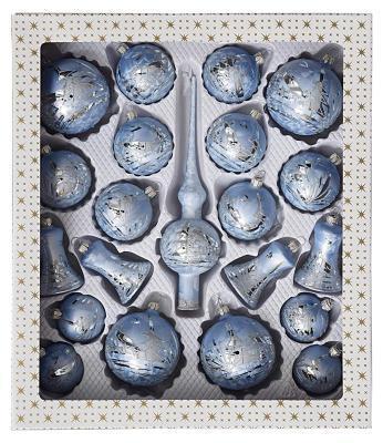 Den eisblauen Christbaumschmuck aus Lauschaer Glas bestellen