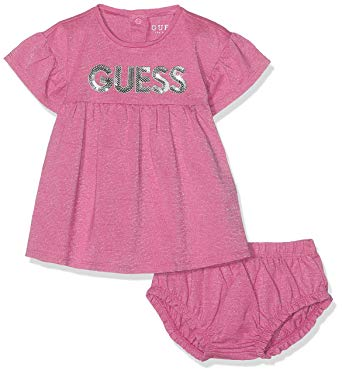 Das pinkfarbene Baby-Mädchen-Kleid von Guess bestellen