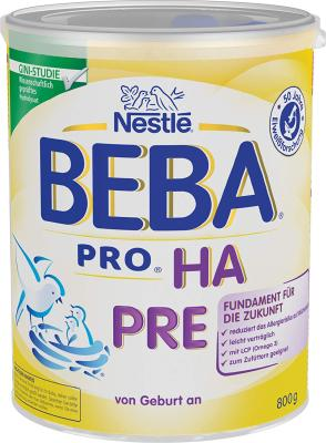 Nestlé BEBA PRO HA PRE Hypoallergene Säuglings-Anfangsnahrung