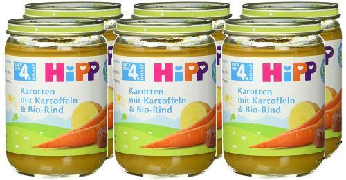 HiPP Karotten mit Kartoffeln und Bio-Rind, 6er Pack (6 x 190 g) bestellen