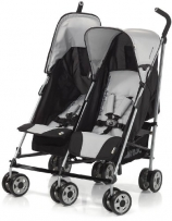 Hauck 139011 Kinderwagen Turbo 11 Duo H-Grey