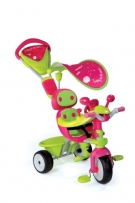 Smoby 434118 - 3-in-1 Dreirad Baby Driver Komfort Girl