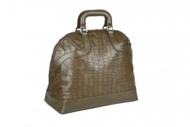 Wickeltasche Tender Bowler Bag Croco Olive