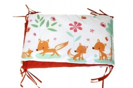 millemarille 1612 Bettnest, Sweet Foxes, 70 x 140 x 70 cm