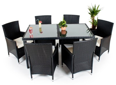 Die Poly-Rattan-Gartenmöbelgarnitur für 6 Personen von TecTake kaufen