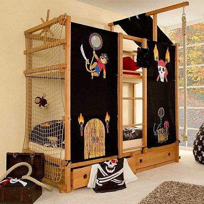 Das Piraten-Hochbett Jackmo von Pharao24 für 2 Kinder bestellen