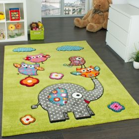 Den Kinderzimmer-Teppich Eule-Elefant kaufen