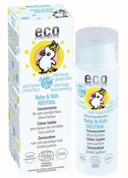 Baby & Kids Neutral Sonnencreme LSF 50 von eco cosmetics kaufen