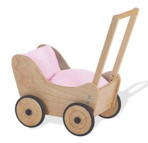 Den stabilen Nostalgie-Puppenwagen aus Holz kaufen