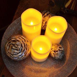Das stimmungsvolle LED-Echtwachs-Kerzen-Set kaufen