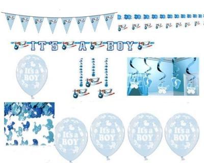 Das Baby-Party-Komplett-Set - wenn es ein Junge wird - kaufen