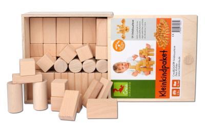 Das CreaBLOCKS-Kleinkind-Paket mit 54 unbehandelten Bausteinen bestellen