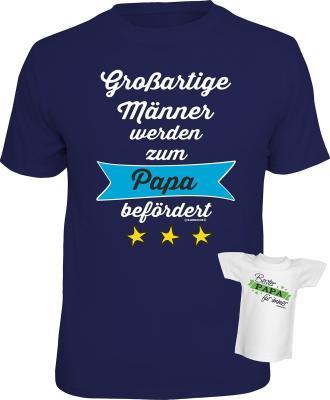 Das lustige T-Shirt zum Vater werden bestellen