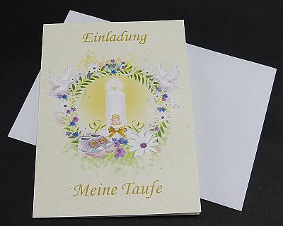 Die Einladungskarten zur Taufe (12 Stück) bestellen