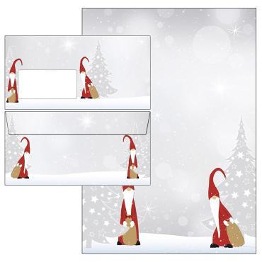 Das Set - Briefpapier mit Weihnachtswichteln - je 25 Blatt und Umschläge - bestellen