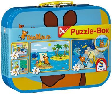 Den Puzzle-Koffer mit 4 Puzzles - Mit der Maus - von Schmidt bestellen