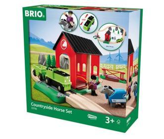 Das Pferde-Bahn-Set mit Bauernhoftieren von BRIO bestellen