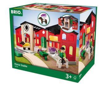 Den großen Pferdestall mit viel Zubehör von BRIO bestellen