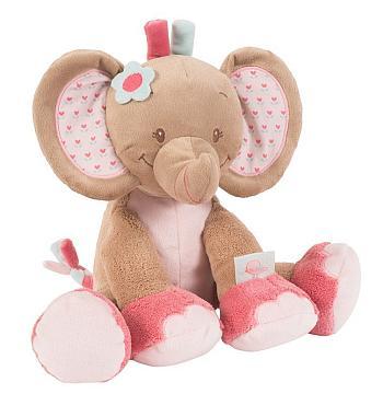 Den niedlichen Kuschel-Elefant in Rosa von Nattou bestellen