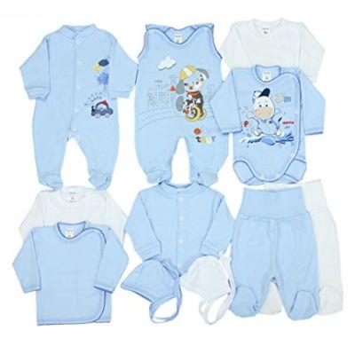 Das 11-teilige Bekleidungsset für den kleinen Jungen bestellen