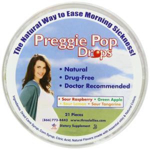 Eine Dose Preggie Pop Drops gegen Schwangerschaftsübelkeit bestellen
