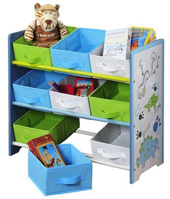 Das Spielzeugregal mit Stoffboxen von Kesper bestellen