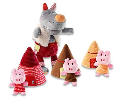 Das Handpuppenset - der Wolf und die drei kleinen Schweinchen - bestellen