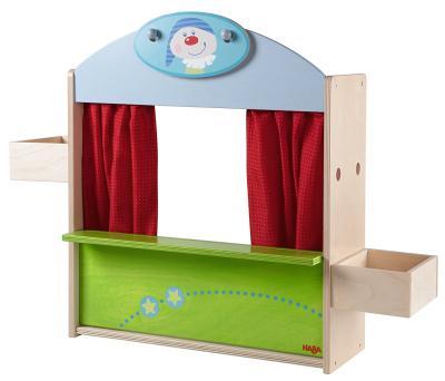 Das wandlungsfähige Puppentheater-Kaufmannsladen von HABA bestellen