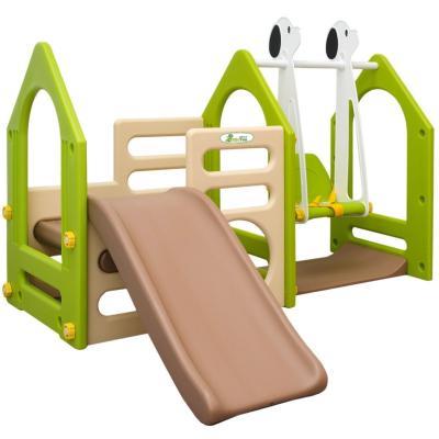Das Kinder-Spielhaus mit Rutsche und Schaukel von LittleTom bestellen
