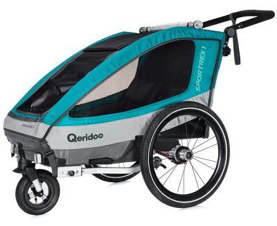 Den Fahrradanhänger Sportrex 1 von Qeridoo Version 2018 bestellen
