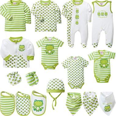 17-teilige Baby Butt Erstausstattungsset in Grün bestellen